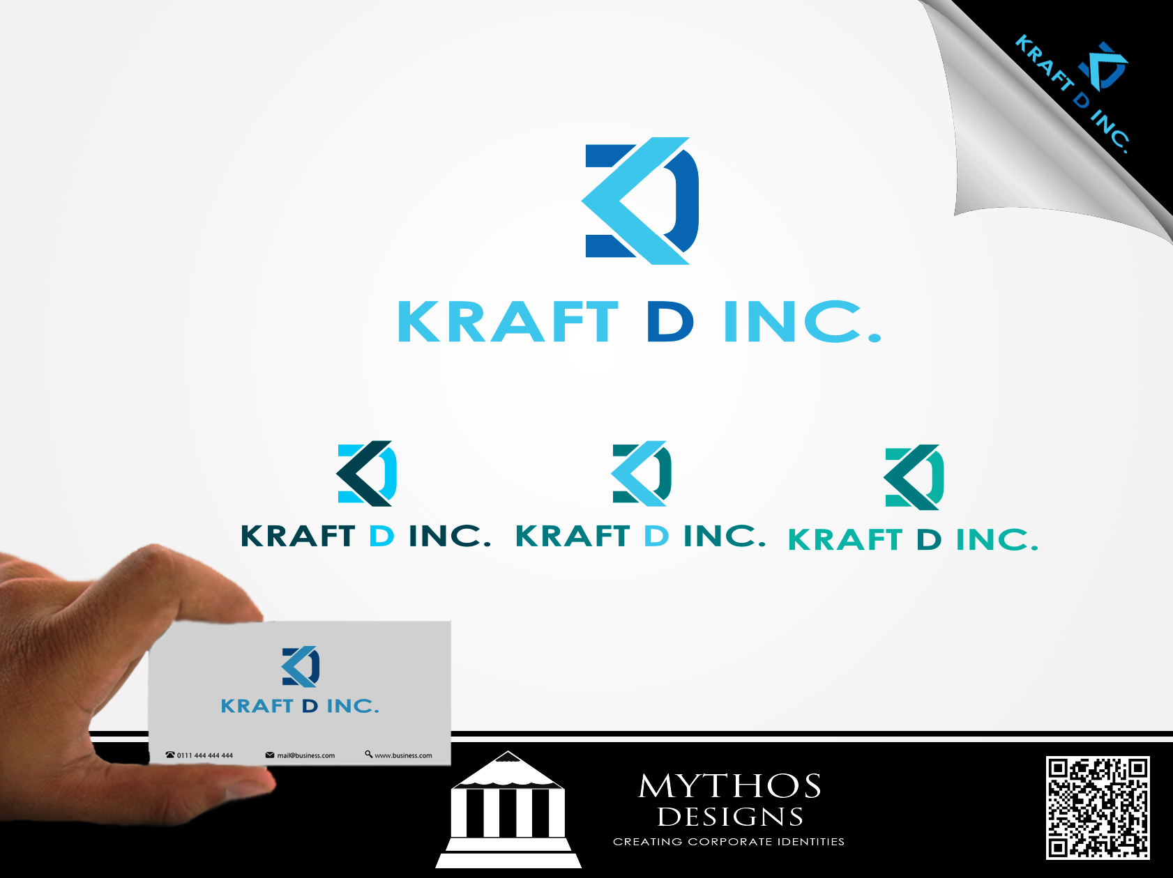Logo Design by Mythos Designs - Entry No. 221 in the Logo Design Contest Unique Logo Design Wanted for Kraft D Inc.