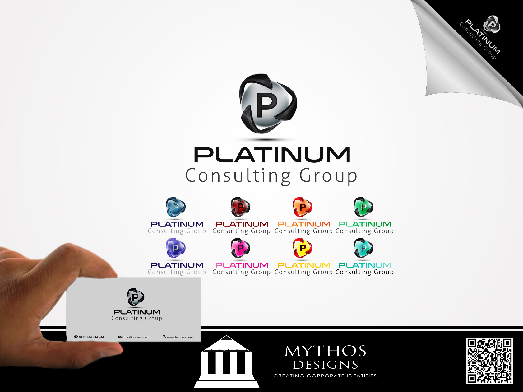 Logo Design by Mythos Designs - Entry No. 27 in the Logo Design Contest Captivating Logo Design for Platinum Consulting Group.