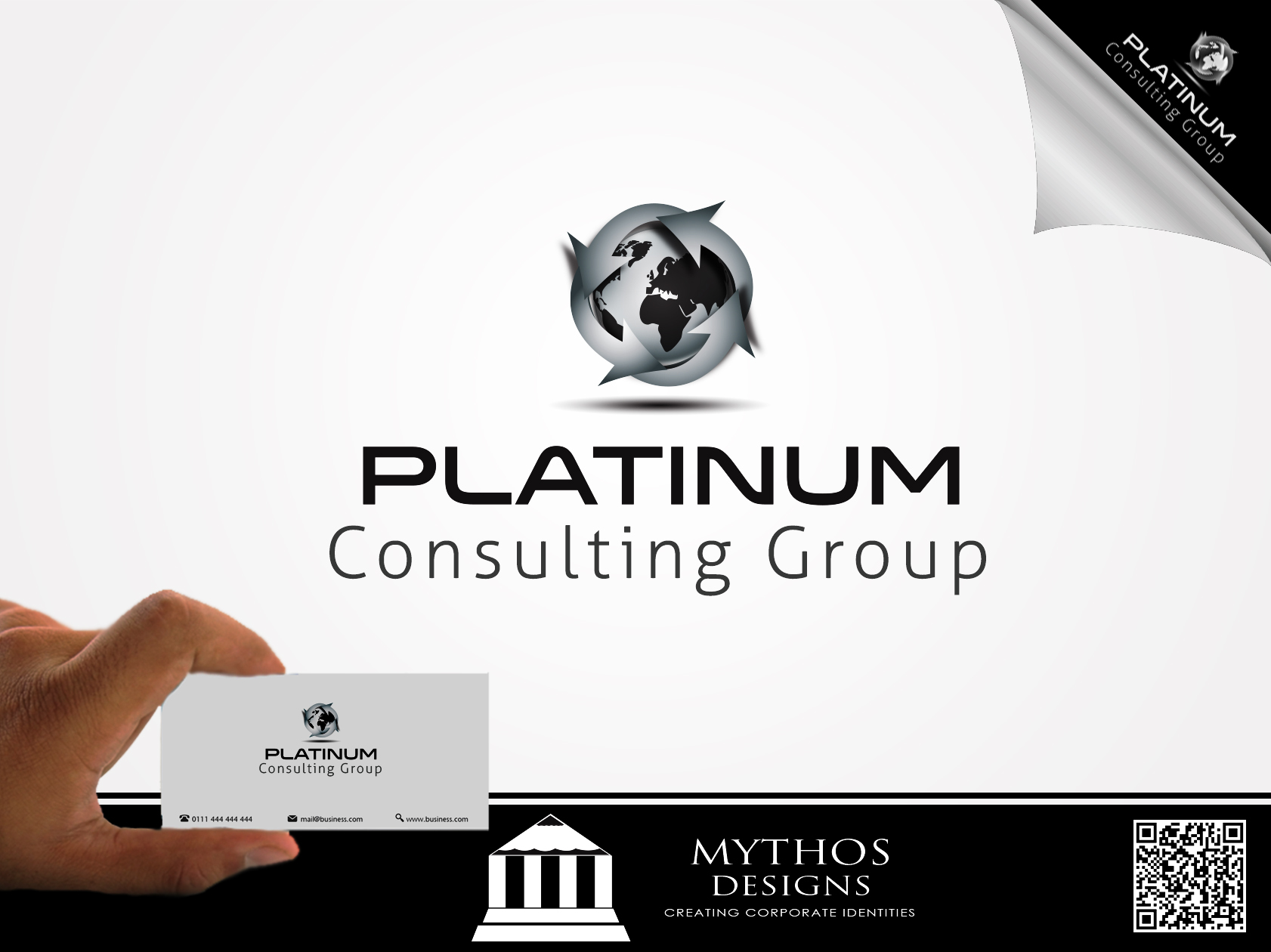 Logo Design by Mythos Designs - Entry No. 28 in the Logo Design Contest Captivating Logo Design for Platinum Consulting Group.