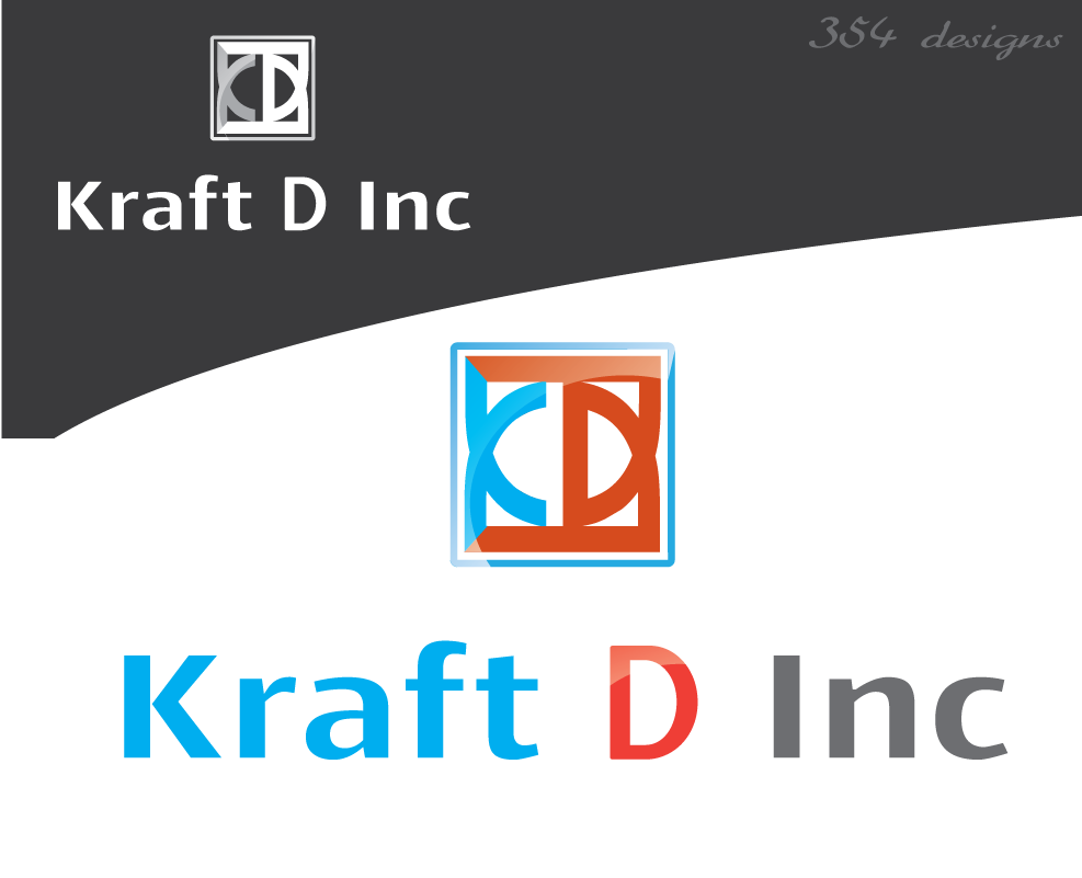 Logo Design by 354studio - Entry No. 229 in the Logo Design Contest Unique Logo Design Wanted for Kraft D Inc.