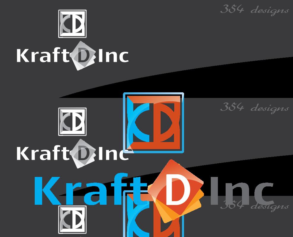 Logo Design by 354studio - Entry No. 230 in the Logo Design Contest Unique Logo Design Wanted for Kraft D Inc.
