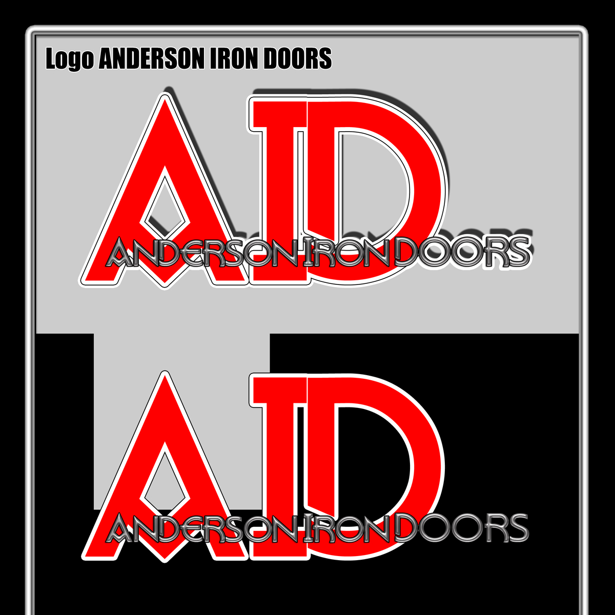 Logo Design by MITUCA ANDREI - Entry No. 1 in the Logo Design Contest Artistic Logo Design for Anderson Iron Doors.