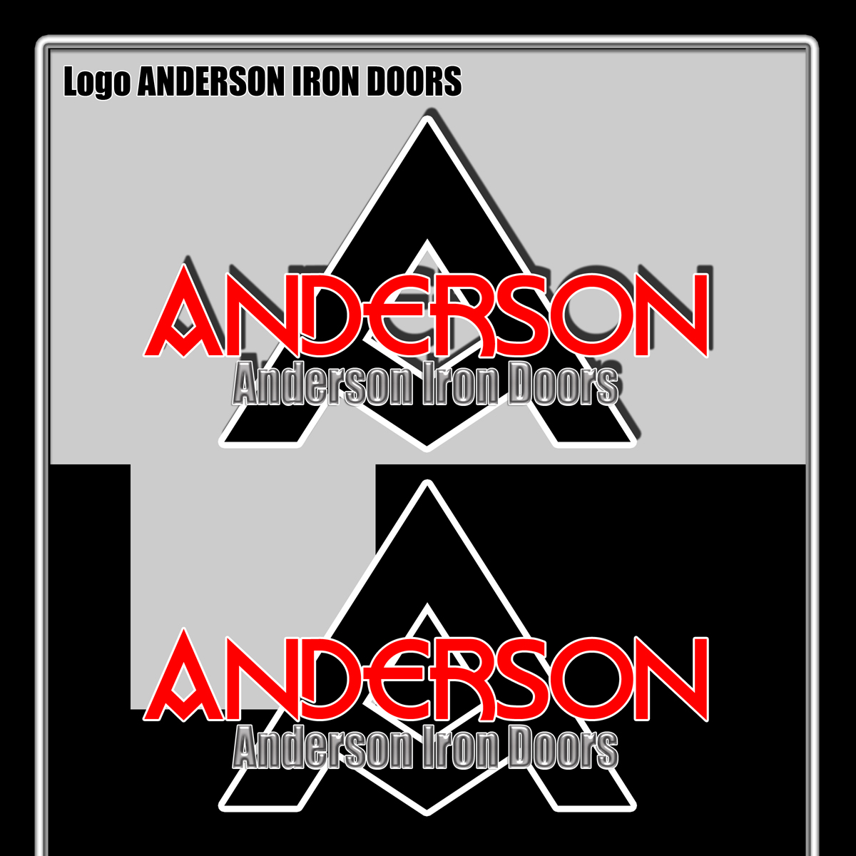 Logo Design by MITUCA ANDREI - Entry No. 2 in the Logo Design Contest Artistic Logo Design for Anderson Iron Doors.
