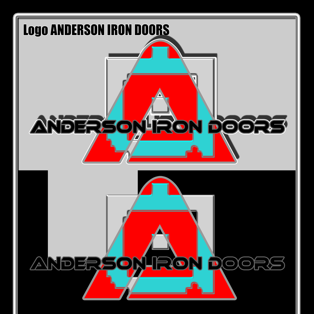 Logo Design by MITUCA ANDREI - Entry No. 3 in the Logo Design Contest Artistic Logo Design for Anderson Iron Doors.