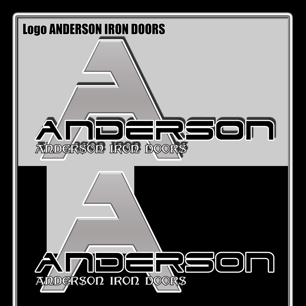 Logo Design by MITUCA ANDREI - Entry No. 4 in the Logo Design Contest Artistic Logo Design for Anderson Iron Doors.