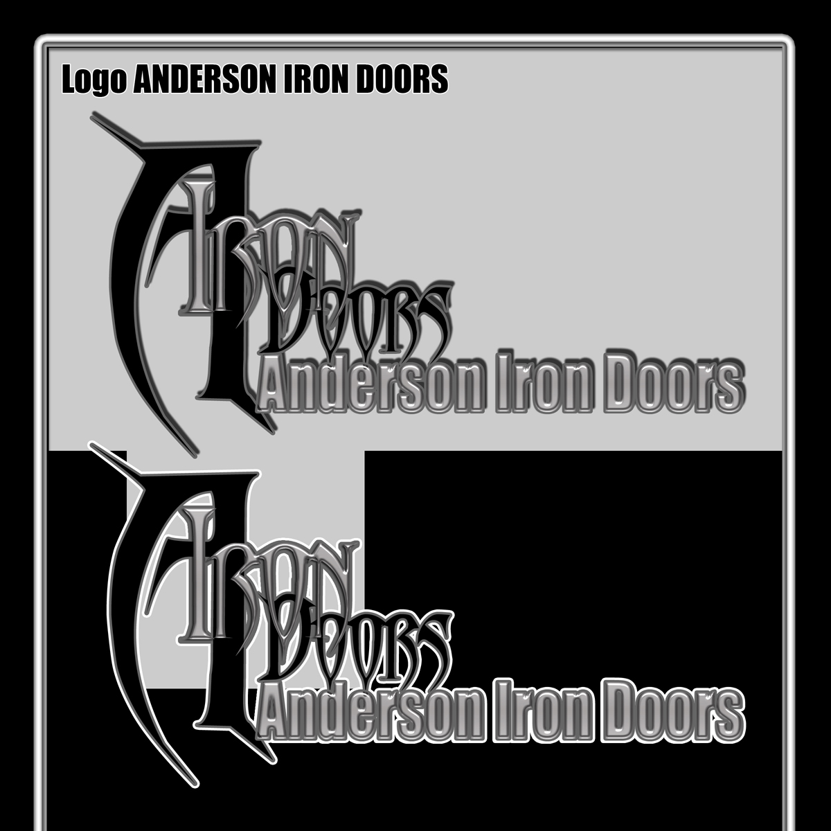 Logo Design by MITUCA ANDREI - Entry No. 5 in the Logo Design Contest Artistic Logo Design for Anderson Iron Doors.