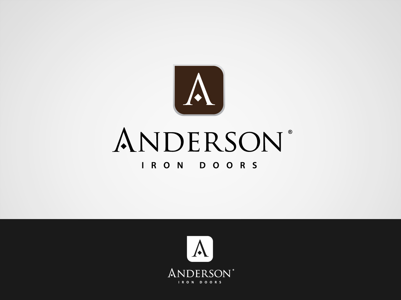 Logo Design by jpbituin - Entry No. 6 in the Logo Design Contest Artistic Logo Design for Anderson Iron Doors.