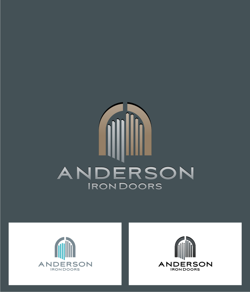 Logo Design by graphicleaf - Entry No. 7 in the Logo Design Contest Artistic Logo Design for Anderson Iron Doors.