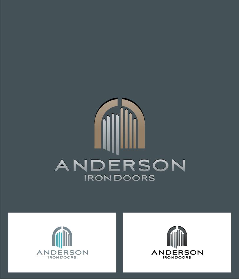 Logo Design by Muhammad Nasrul chasib - Entry No. 7 in the Logo Design Contest Artistic Logo Design for Anderson Iron Doors.