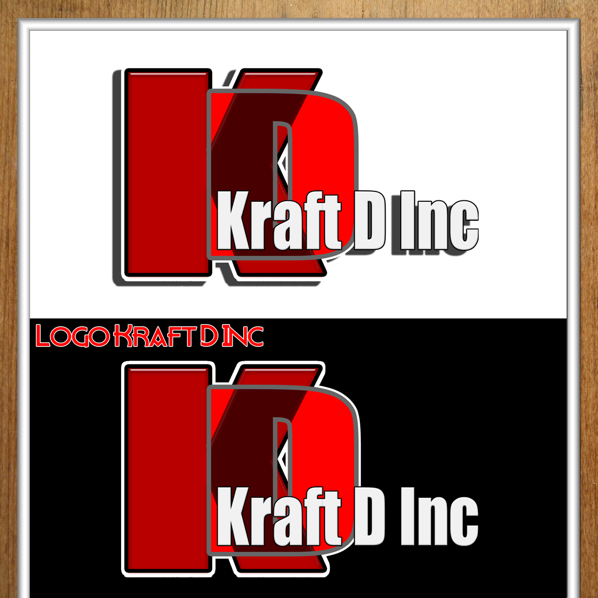 Logo Design by MITUCA ANDREI - Entry No. 247 in the Logo Design Contest Unique Logo Design Wanted for Kraft D Inc.