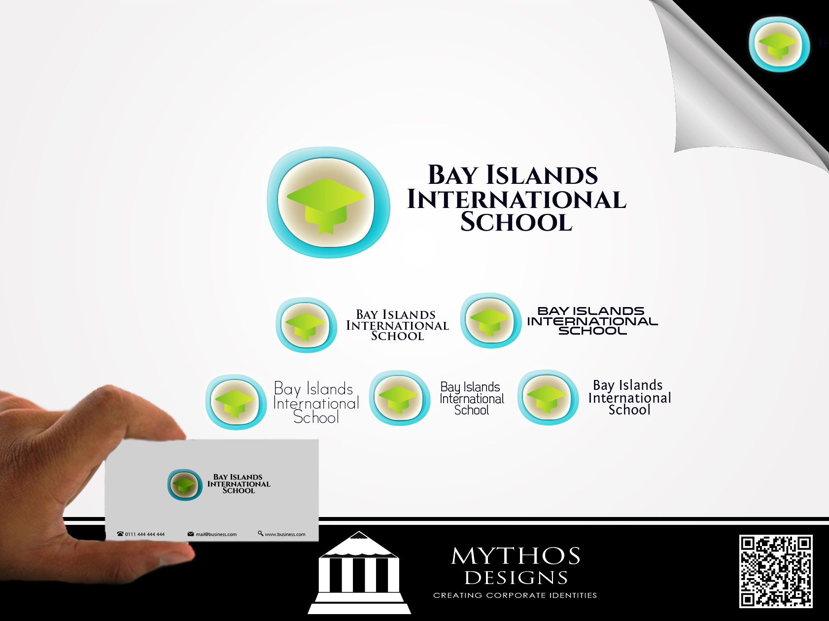 Logo Design by Mythos Designs - Entry No. 34 in the Logo Design Contest Creative Logo Design for Bay Islands International School.