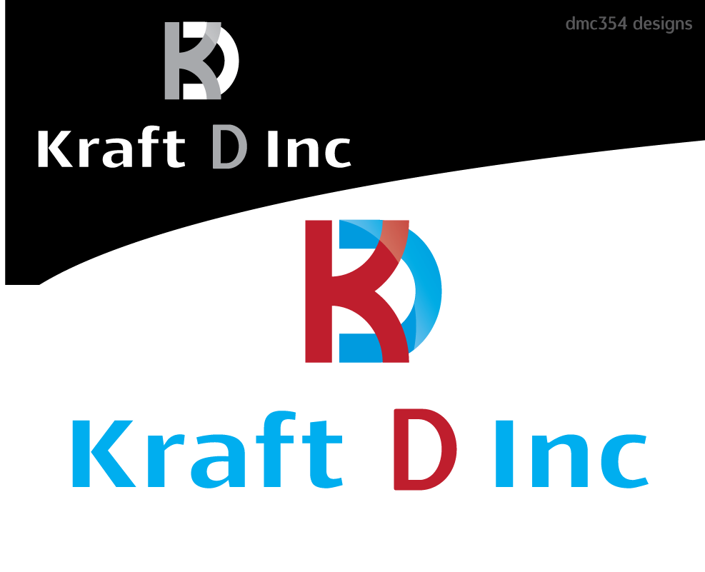 Logo Design by 354studio - Entry No. 257 in the Logo Design Contest Unique Logo Design Wanted for Kraft D Inc.