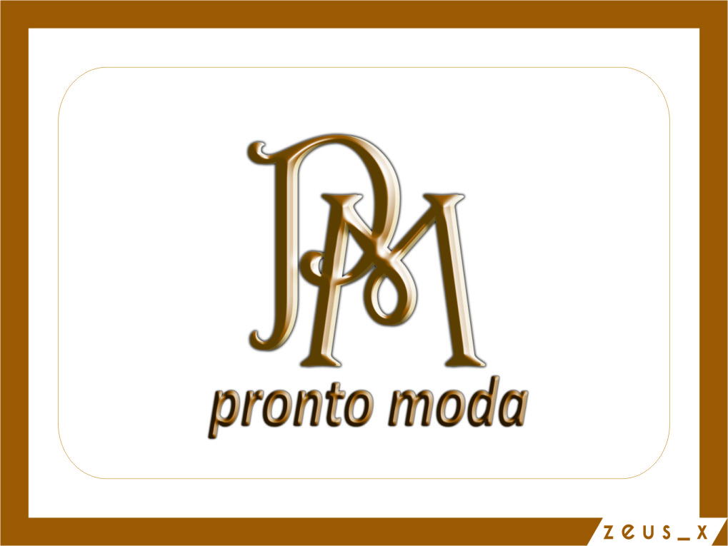 Logo Design by Ngepet_art - Entry No. 3 in the Logo Design Contest Captivating Logo Design for Pronto moda.