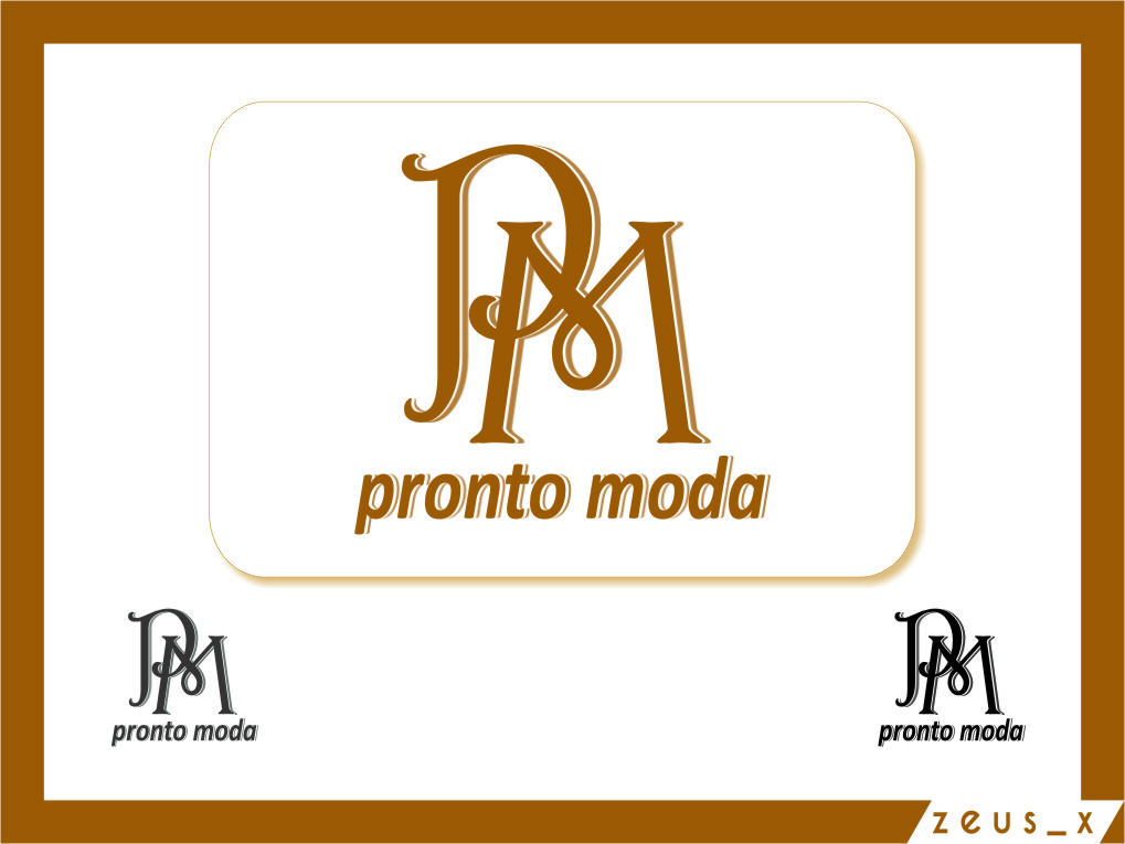 Logo Design by RasYa Muhammad Athaya - Entry No. 4 in the Logo Design Contest Captivating Logo Design for Pronto moda.