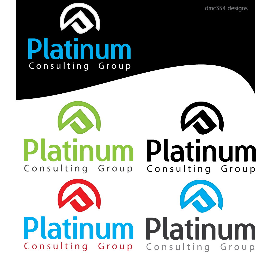 Logo Design by 354studio - Entry No. 39 in the Logo Design Contest Captivating Logo Design for Platinum Consulting Group.