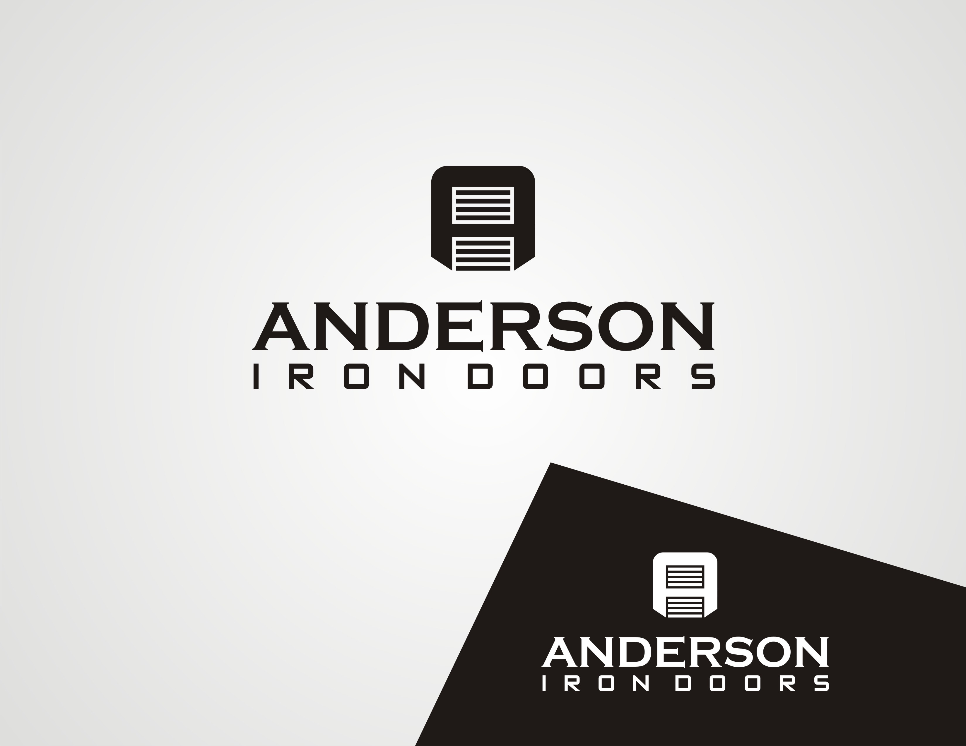 Logo Design by Sourav Sarkar - Entry No. 12 in the Logo Design Contest Artistic Logo Design for Anderson Iron Doors.