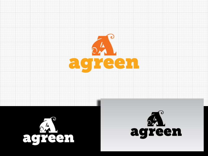 Logo Design by Private User - Entry No. 98 in the Logo Design Contest Inspiring Logo Design for Agreen.