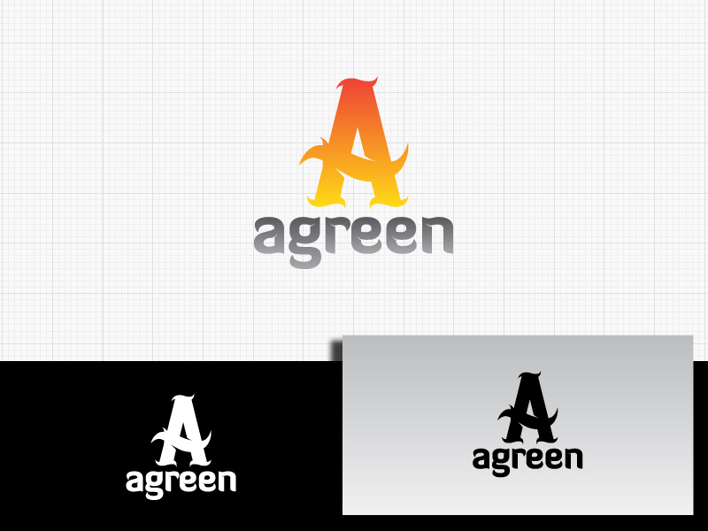 Logo Design by Private User - Entry No. 100 in the Logo Design Contest Inspiring Logo Design for Agreen.
