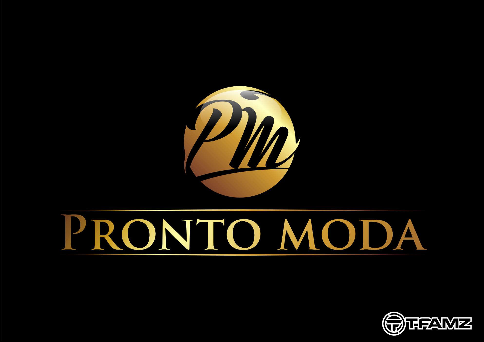 Logo Design by Tille Famz - Entry No. 9 in the Logo Design Contest Captivating Logo Design for Pronto moda.