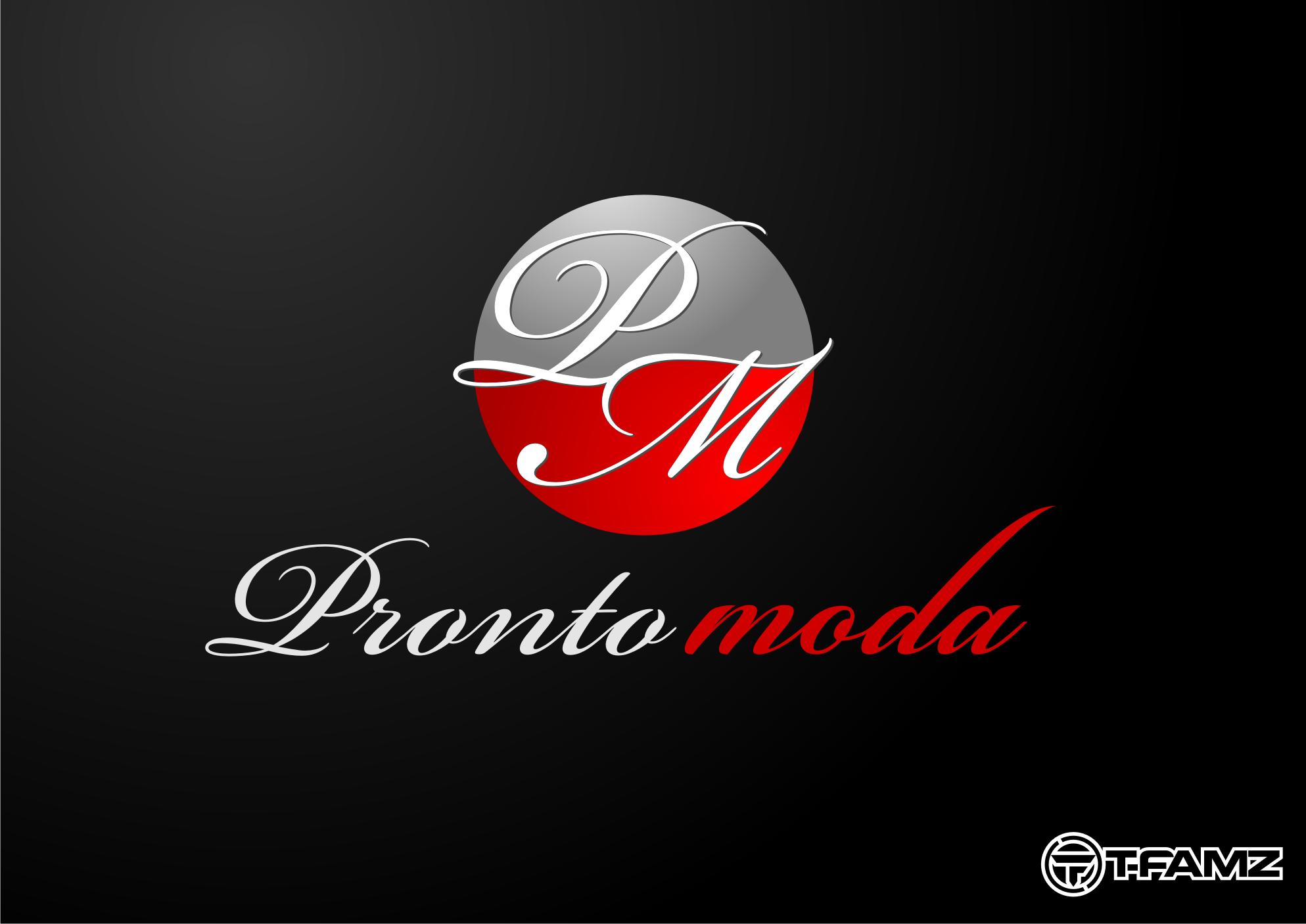 Logo Design by Tille Famz - Entry No. 12 in the Logo Design Contest Captivating Logo Design for Pronto moda.