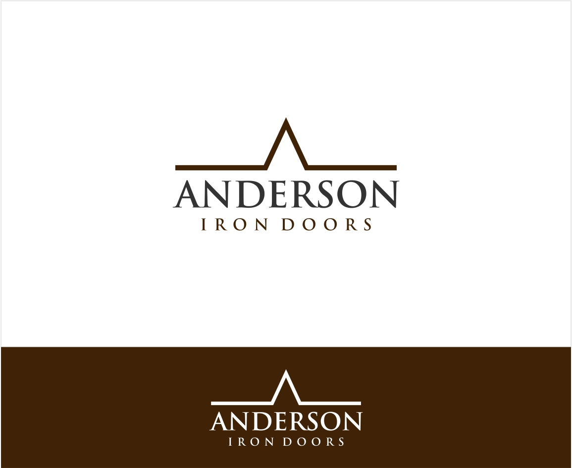 Logo Design by haidu - Entry No. 15 in the Logo Design Contest Artistic Logo Design for Anderson Iron Doors.