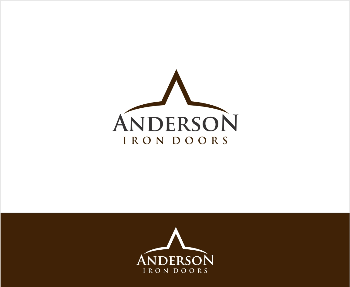Logo Design by haidu - Entry No. 16 in the Logo Design Contest Artistic Logo Design for Anderson Iron Doors.