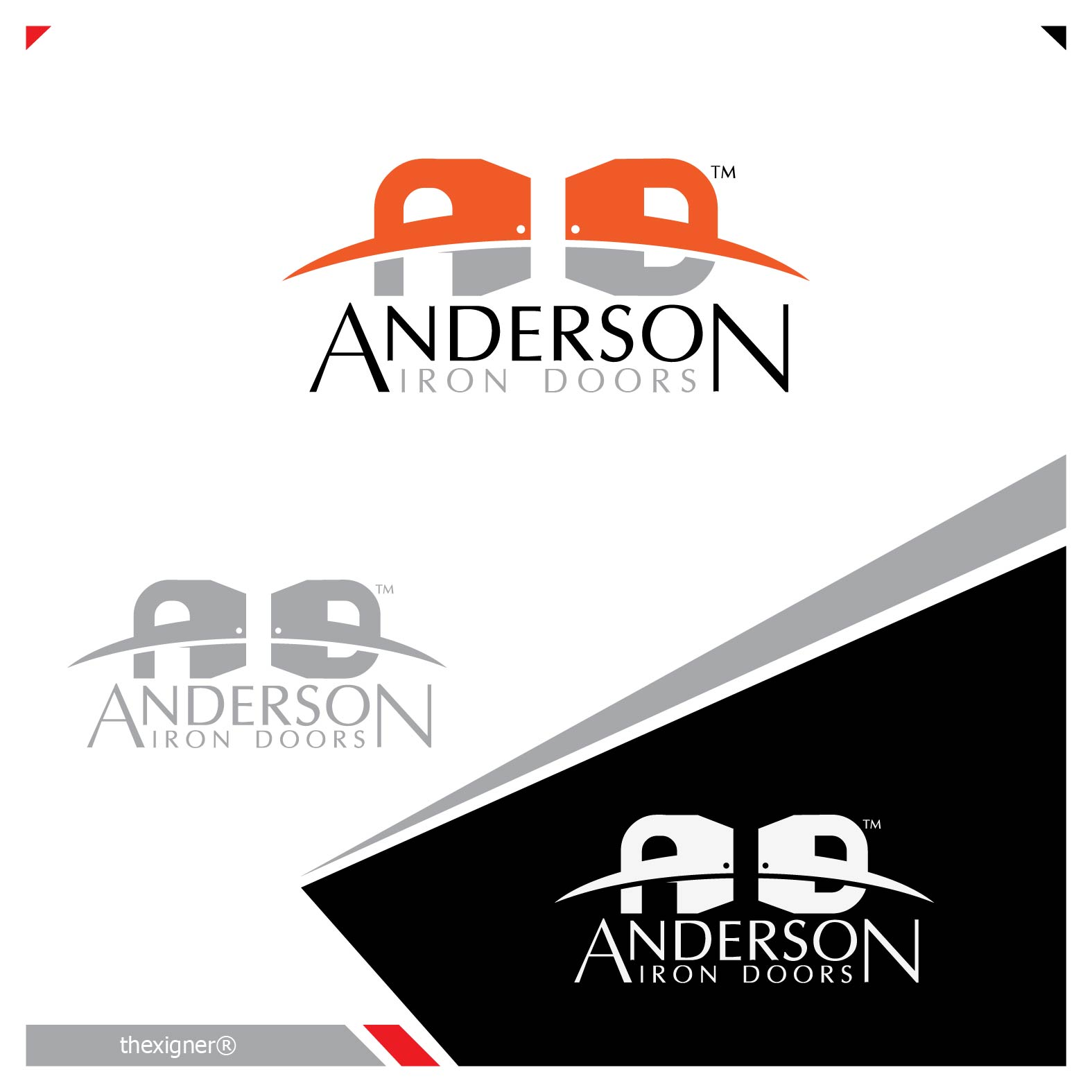 Logo Design by lagalag - Entry No. 19 in the Logo Design Contest Artistic Logo Design for Anderson Iron Doors.