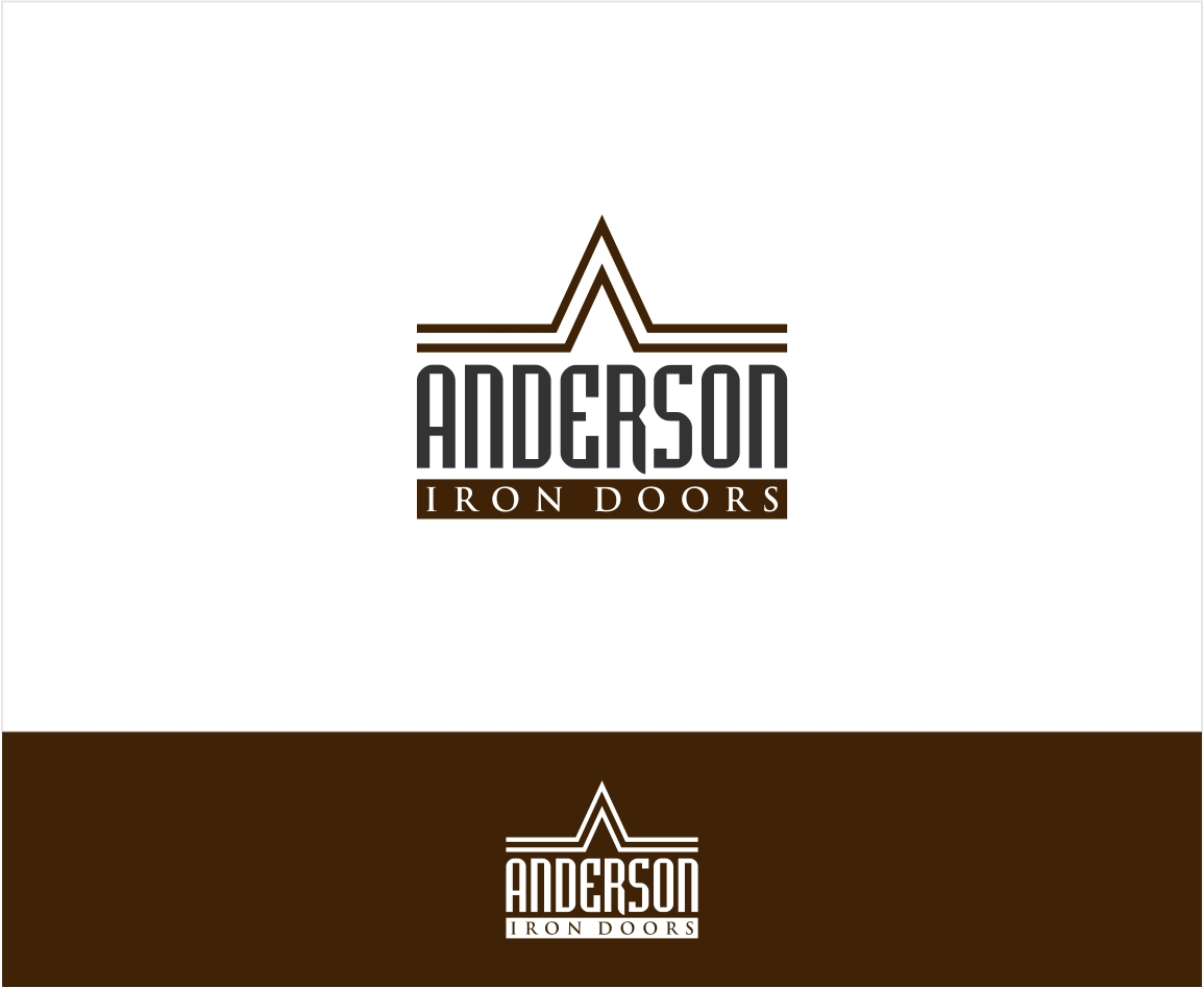 Logo Design by haidu - Entry No. 21 in the Logo Design Contest Artistic Logo Design for Anderson Iron Doors.
