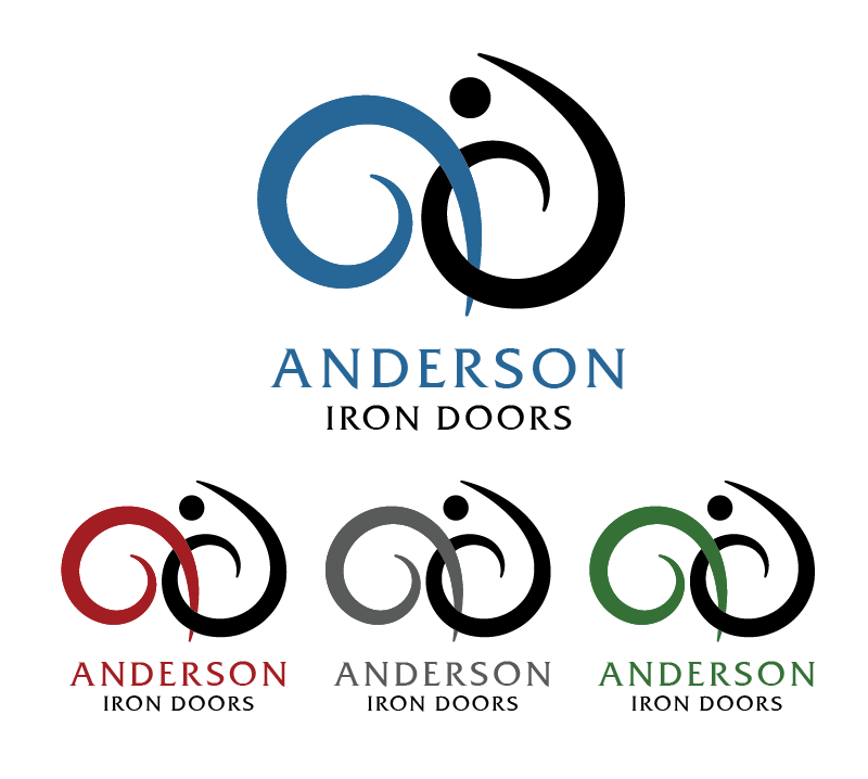 Logo Design by Christina Evans - Entry No. 24 in the Logo Design Contest Artistic Logo Design for Anderson Iron Doors.