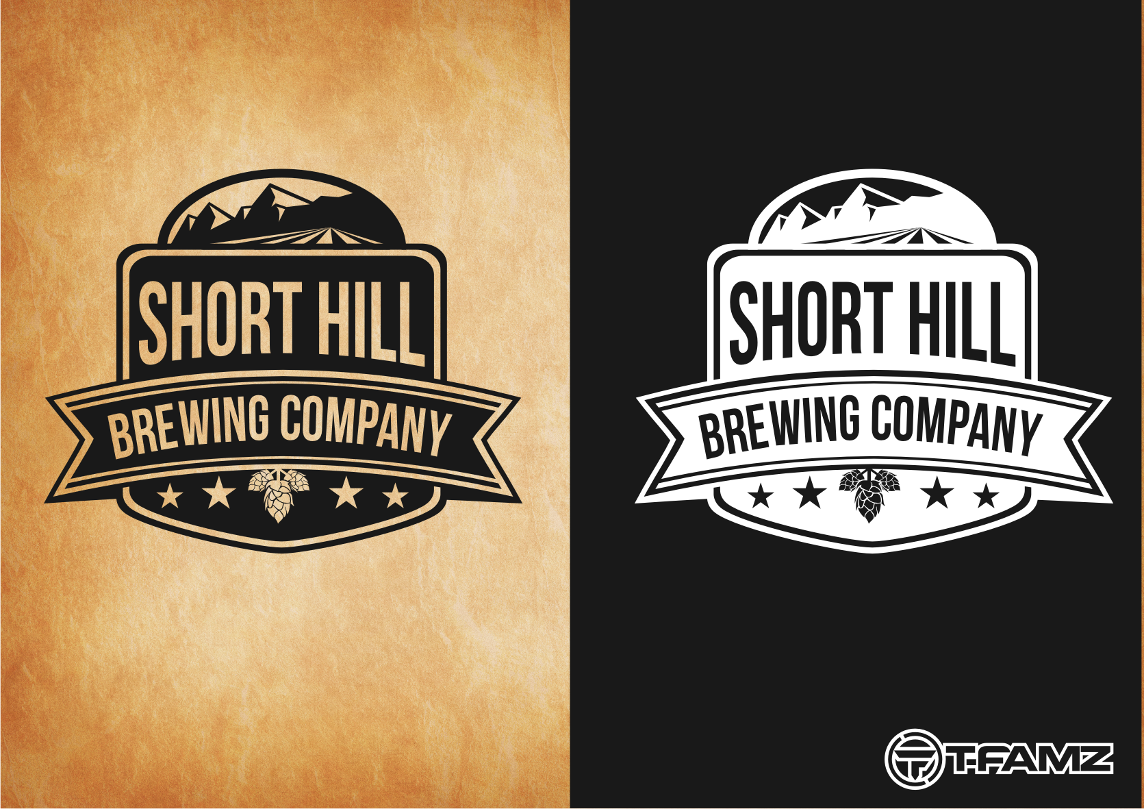 Logo Design by Tille Famz - Entry No. 3 in the Logo Design Contest Unique Logo Design Wanted for Short Hill Brewing Company.