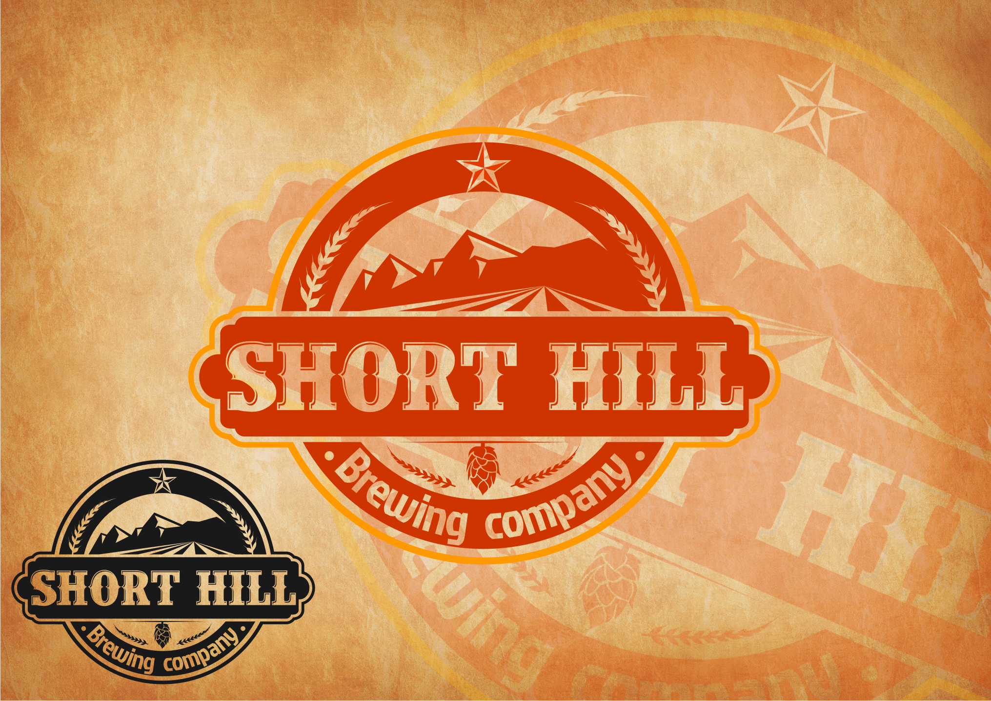 Logo Design by Tille Famz - Entry No. 4 in the Logo Design Contest Unique Logo Design Wanted for Short Hill Brewing Company.