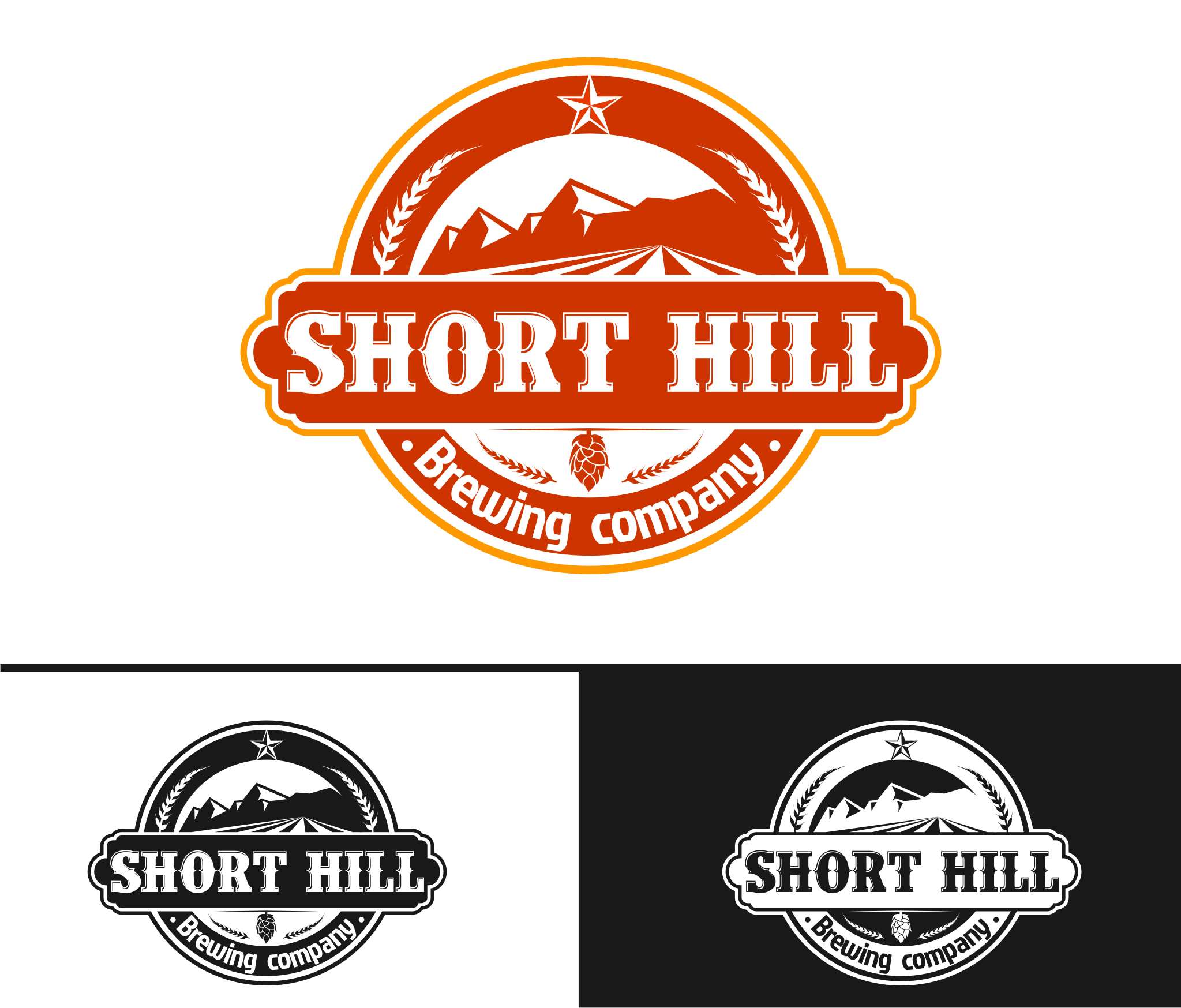 Logo Design by Tille Famz - Entry No. 5 in the Logo Design Contest Unique Logo Design Wanted for Short Hill Brewing Company.