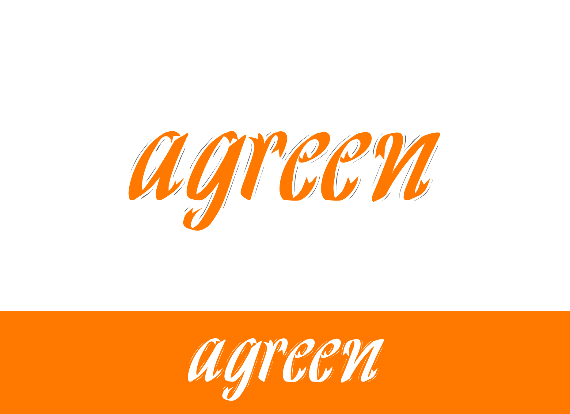 Logo Design by omARTist - Entry No. 117 in the Logo Design Contest Inspiring Logo Design for Agreen.