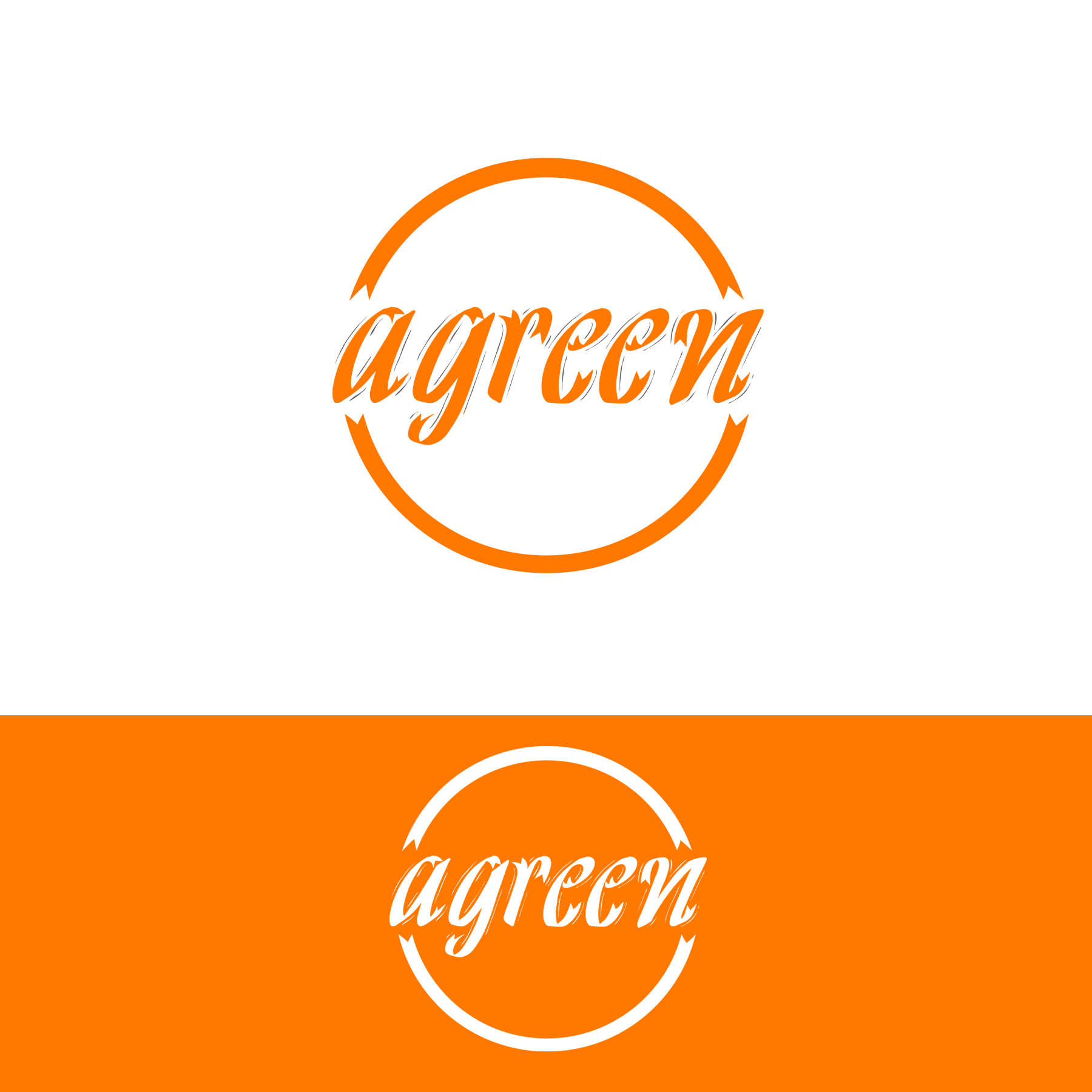 Logo Design by omARTist - Entry No. 118 in the Logo Design Contest Inspiring Logo Design for Agreen.
