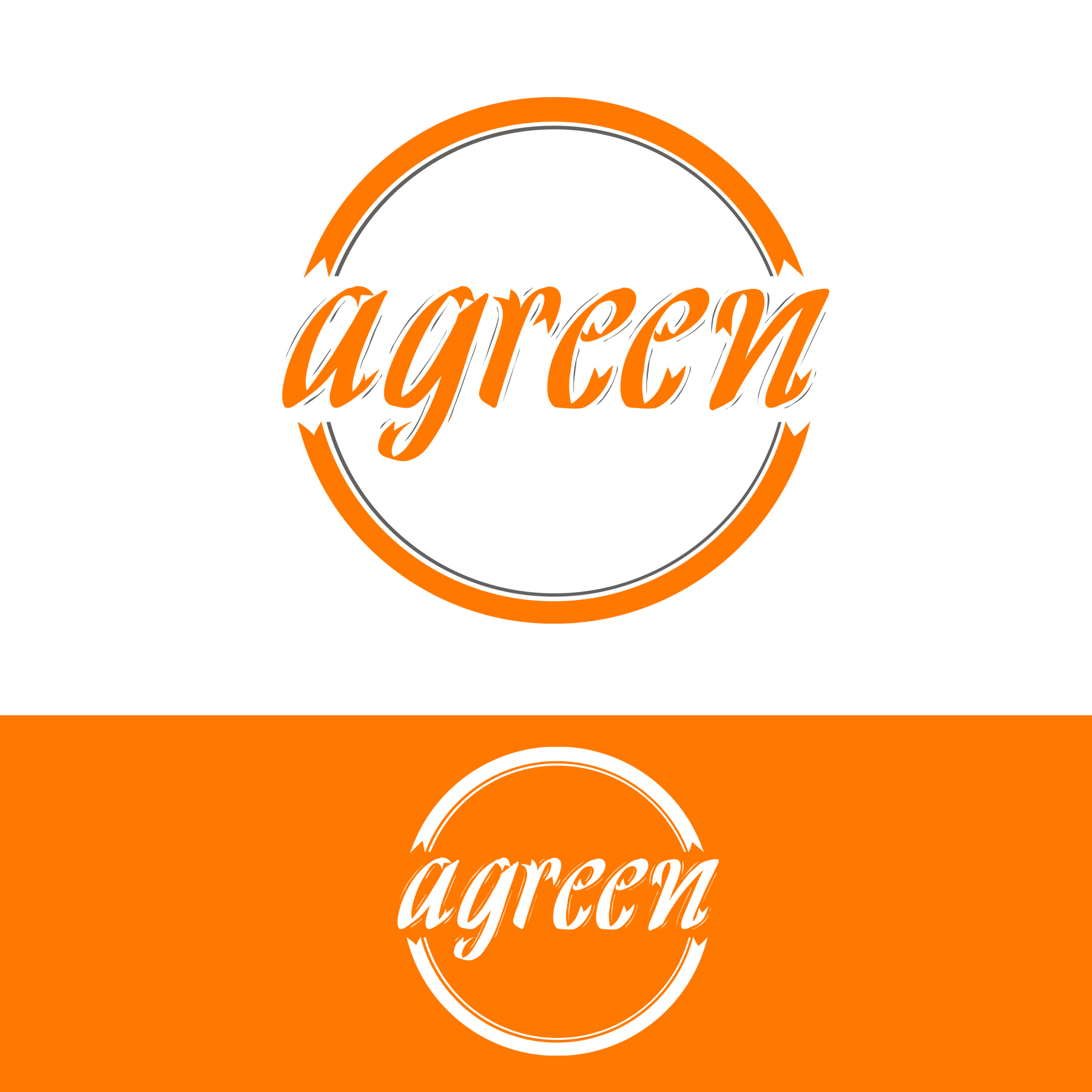 Logo Design by omARTist - Entry No. 119 in the Logo Design Contest Inspiring Logo Design for Agreen.