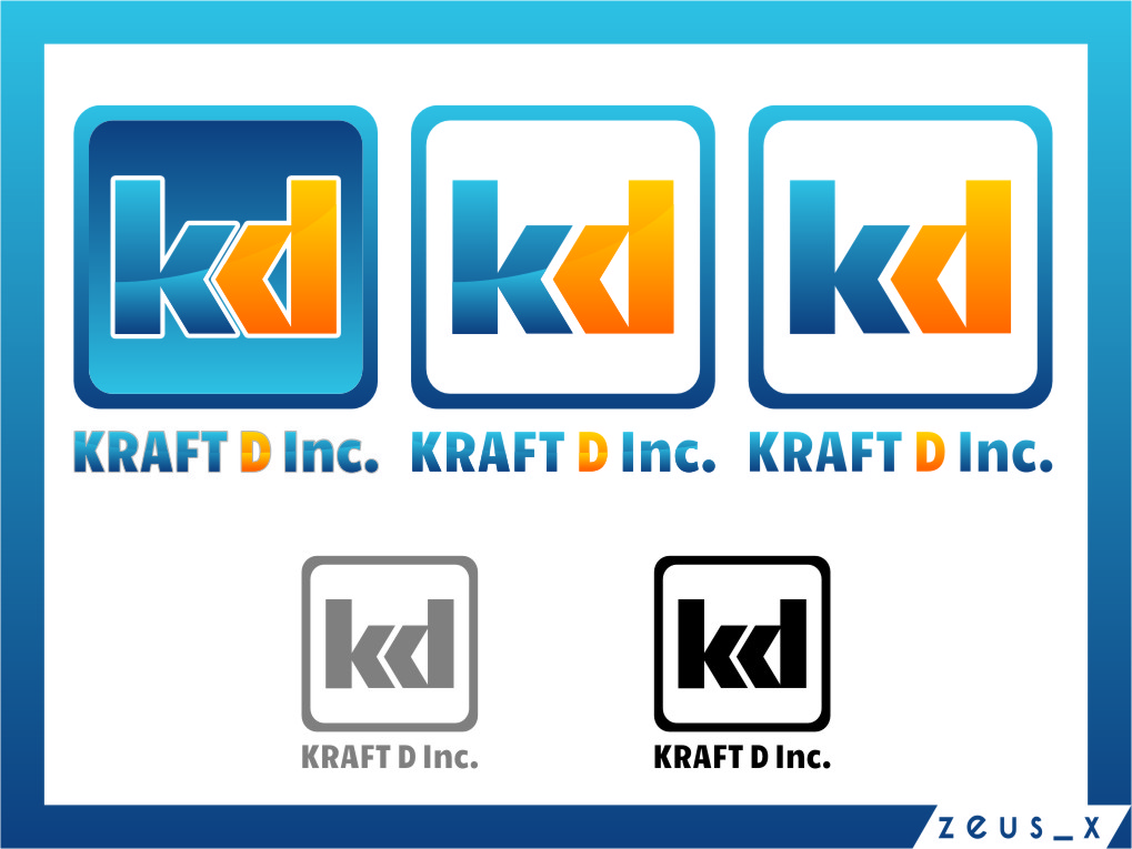 Logo Design by RasYa Muhammad Athaya - Entry No. 297 in the Logo Design Contest Unique Logo Design Wanted for Kraft D Inc.