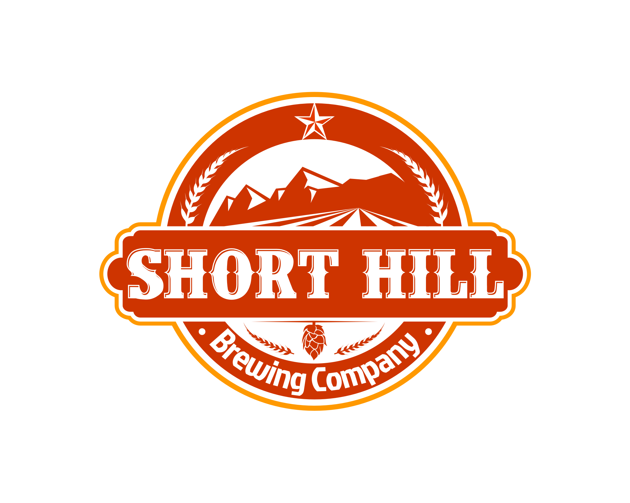 Logo Design by Tille Famz - Entry No. 11 in the Logo Design Contest Unique Logo Design Wanted for Short Hill Brewing Company.