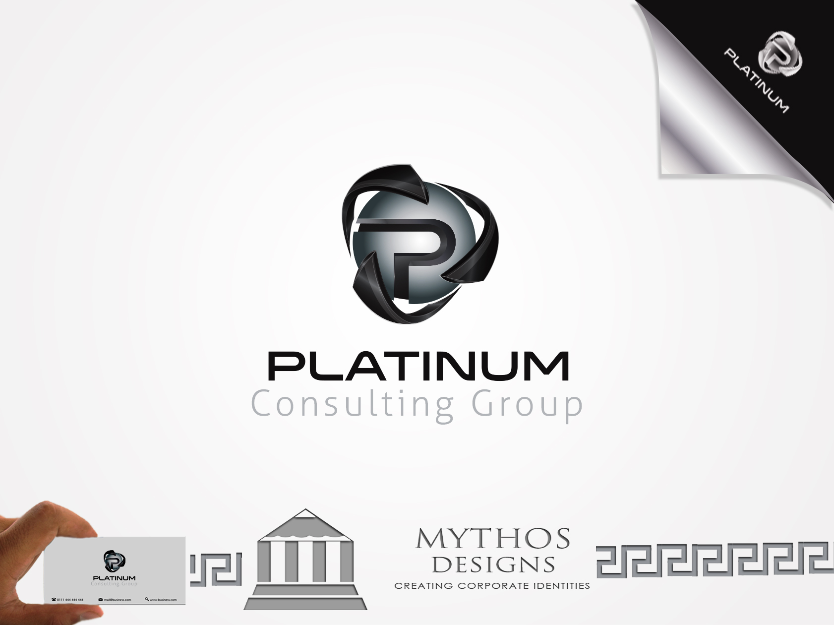 Logo Design by Mythos Designs - Entry No. 49 in the Logo Design Contest Captivating Logo Design for Platinum Consulting Group.