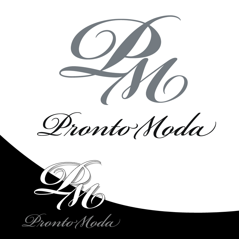 Logo Design by Private User - Entry No. 26 in the Logo Design Contest Captivating Logo Design for Pronto moda.