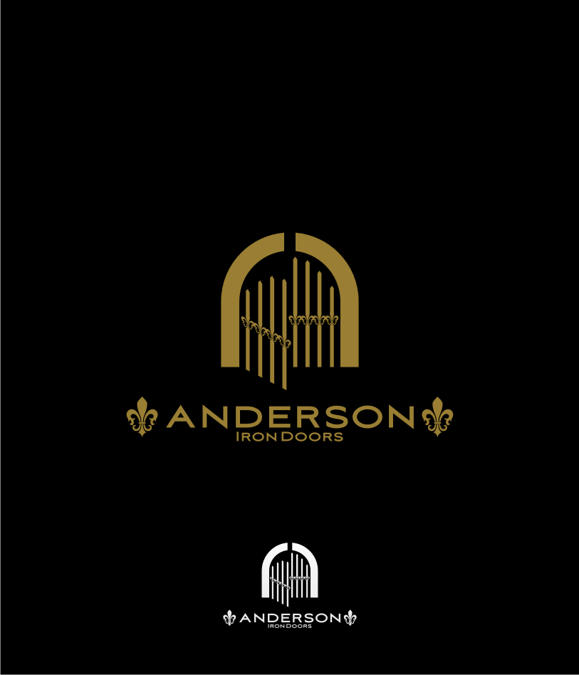 Logo Design by graphicleaf - Entry No. 34 in the Logo Design Contest Artistic Logo Design for Anderson Iron Doors.