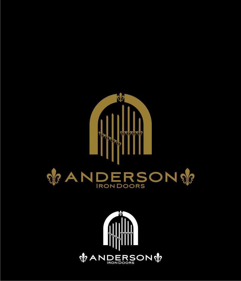 Logo Design by graphicleaf - Entry No. 35 in the Logo Design Contest Artistic Logo Design for Anderson Iron Doors.