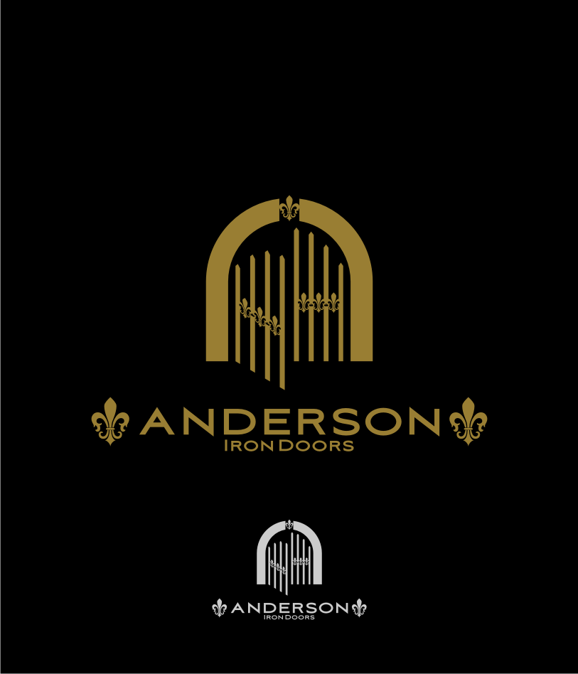 Logo Design by graphicleaf - Entry No. 36 in the Logo Design Contest Artistic Logo Design for Anderson Iron Doors.