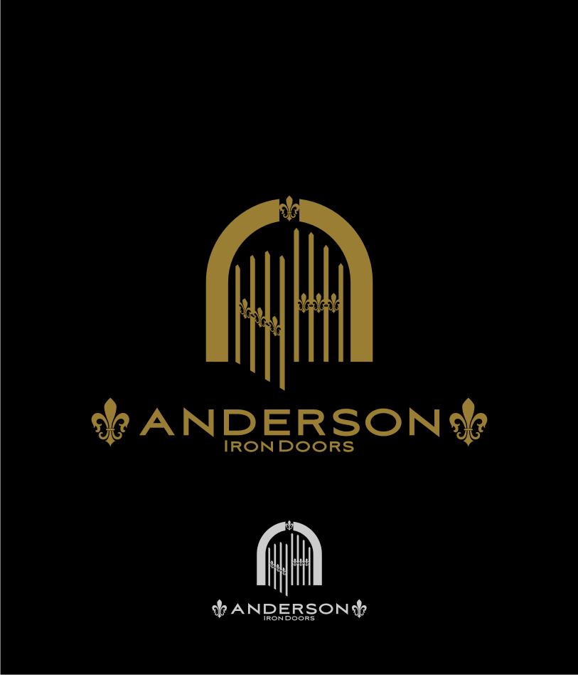 Logo Design by Muhammad Nasrul chasib - Entry No. 36 in the Logo Design Contest Artistic Logo Design for Anderson Iron Doors.