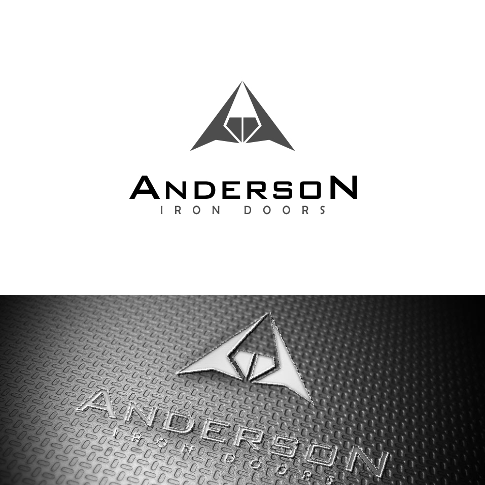 Logo Design by uya128 - Entry No. 37 in the Logo Design Contest Artistic Logo Design for Anderson Iron Doors.