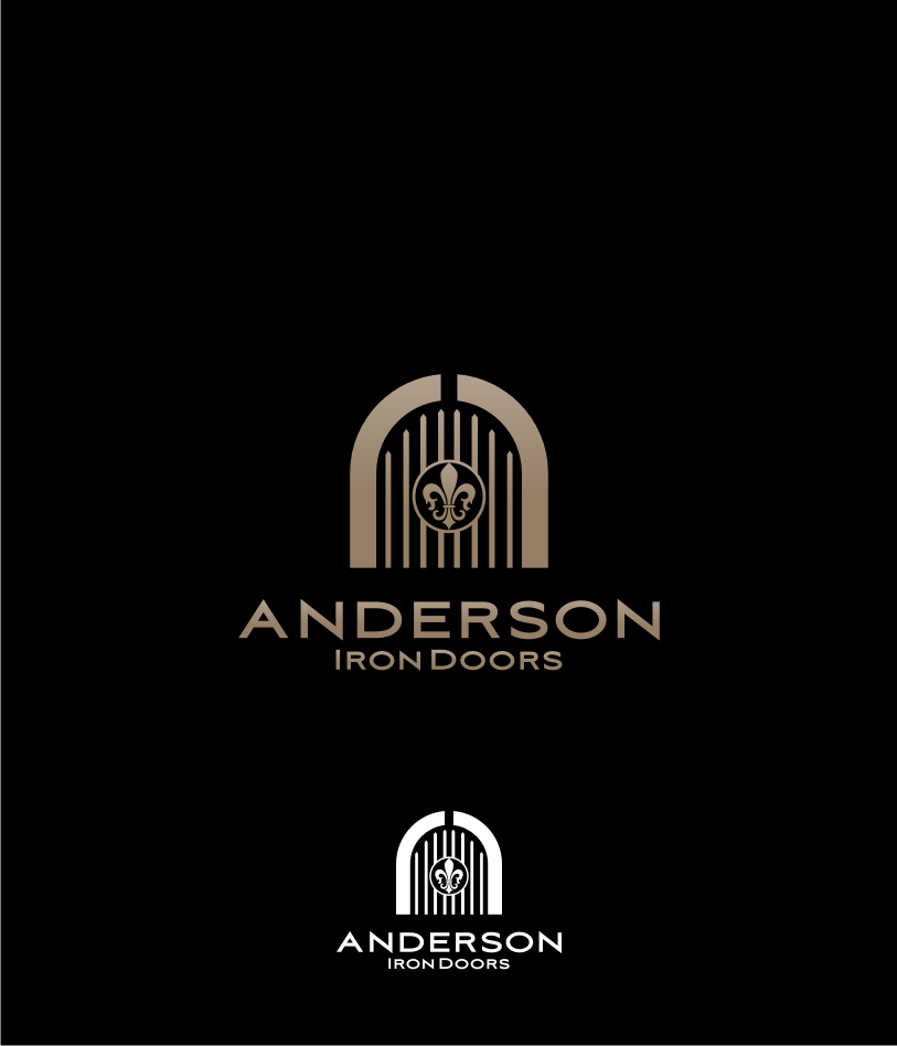 Logo Design by graphicleaf - Entry No. 39 in the Logo Design Contest Artistic Logo Design for Anderson Iron Doors.