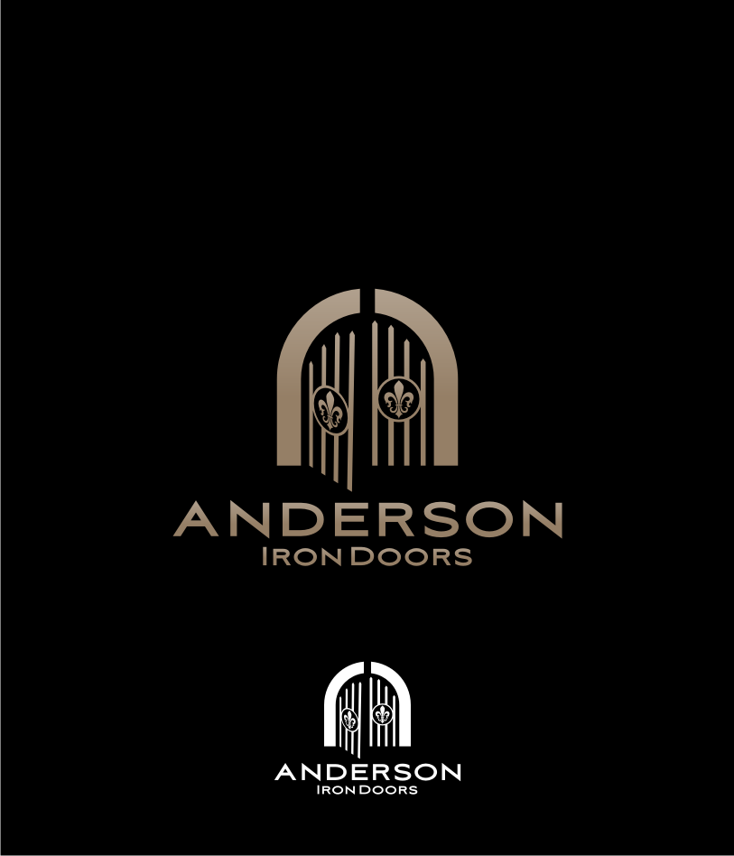 Logo Design by graphicleaf - Entry No. 40 in the Logo Design Contest Artistic Logo Design for Anderson Iron Doors.