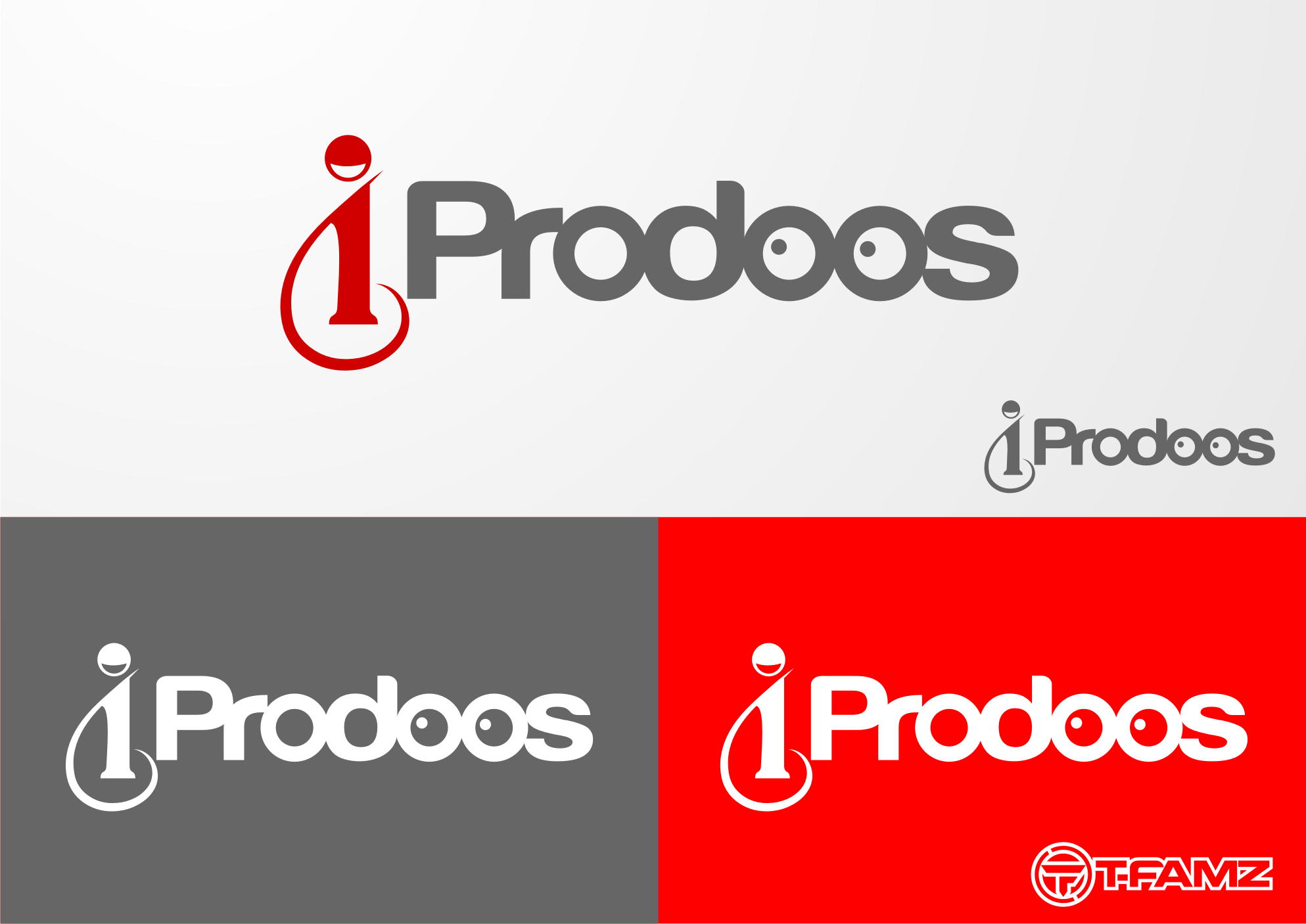 Logo Design by Tille Famz - Entry No. 12 in the Logo Design Contest New Logo Design for iProdoos.