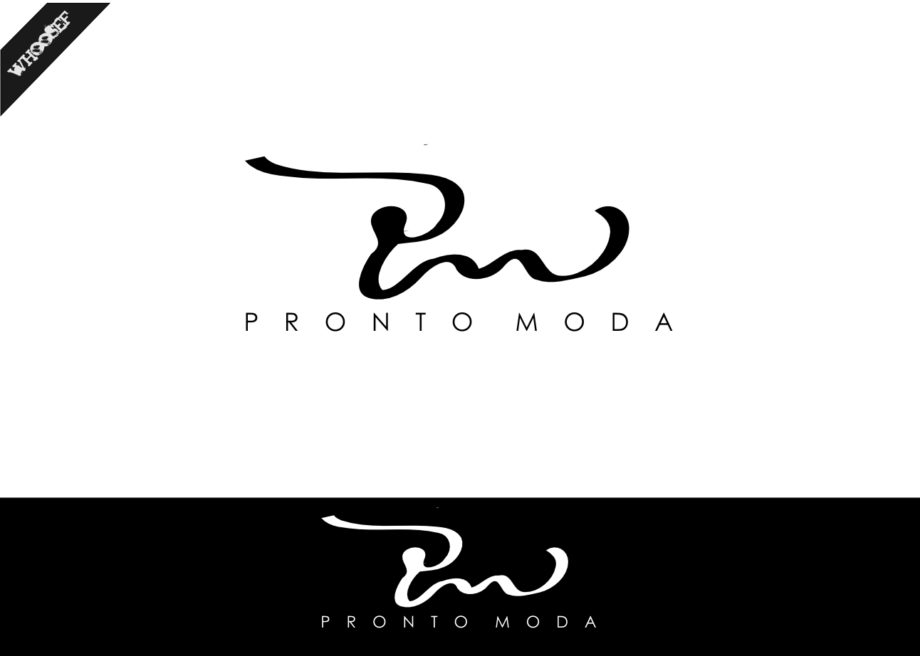 Logo Design by whoosef - Entry No. 33 in the Logo Design Contest Captivating Logo Design for Pronto moda.