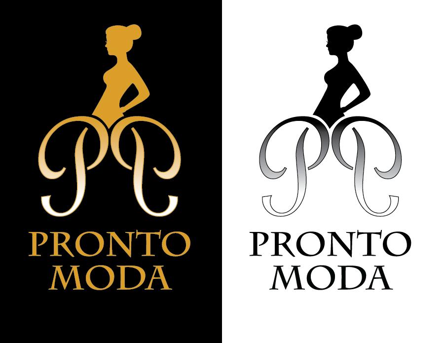 Logo Design by Christina Evans - Entry No. 35 in the Logo Design Contest Captivating Logo Design for Pronto moda.