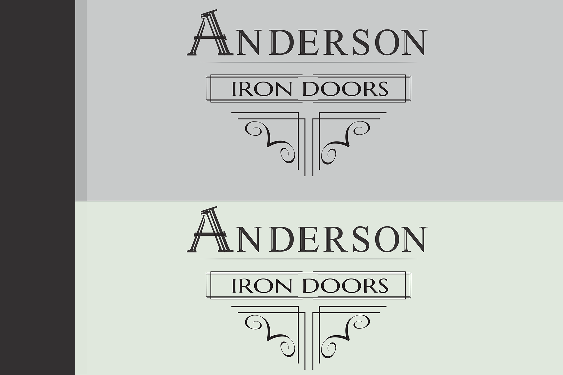 Logo Design by Rozsa Matyas - Entry No. 41 in the Logo Design Contest Artistic Logo Design for Anderson Iron Doors.